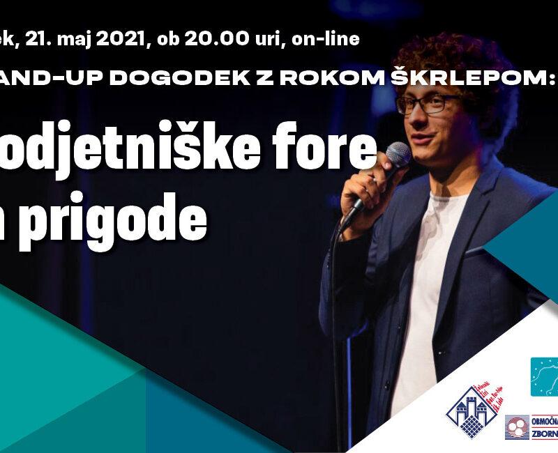 Podjetniške fore in prigode stand-up komika Roka Škrlepa